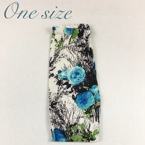 One Size Floral Buttery Soft Leggings